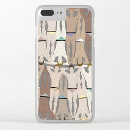 Retro Male Swimmers Clear iPhone Case