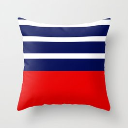 Summer Patio Perfect, Red, White & Navy Throw Pillow