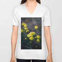 daisies V-neck T-shirts featuring Daisies by Ellen Richardson