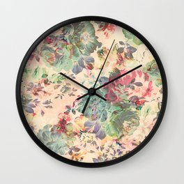 Flower Abstraction Wall Clock