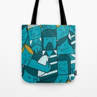 rugby Tote Bags featuring Rugby 1 by Ale Giorgini