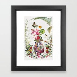 Te Amo anatomical heart collage by Bedelgeuse Framed Art Print