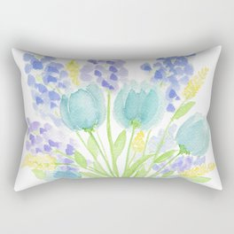 Blue Mood Rectangular Pillow