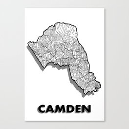 Camden - London Borough - Simple Canvas Print
