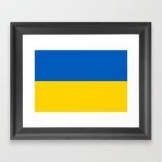 Flag Of Ukraine Framed Art Print