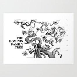 The Hominin Family Tree Art Print