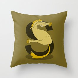 Monogram S Pony Throw Pillow