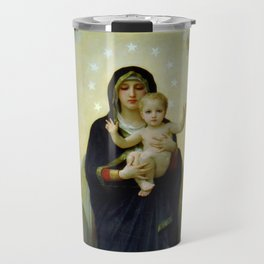 "William-Adolphe Bouguereau ""The Virgin with Angels"" Travel Mug"