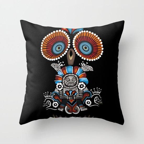 Mexican Owl Throw Pillow