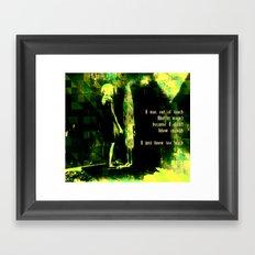 Does that make me crazy? Framed Art Print