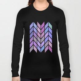 blue & purple chevron Long Sleeve T-shirt