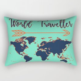 World Traveller Rectangular Pillow