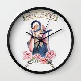 Fucked Up World Wall Clock