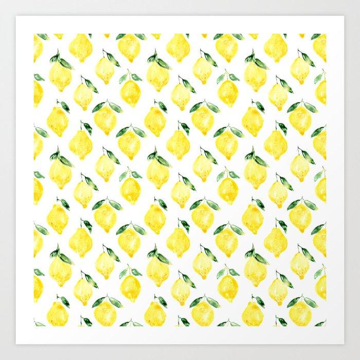 Sicilian lemons    watercolor Kunstdrucke