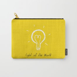 Light of the World - yellow Carry-All Pouch