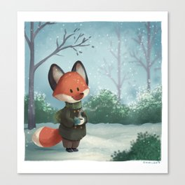 Fox in Winter Canvas Print