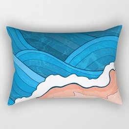 Seaside Beach Rectangular Pillow