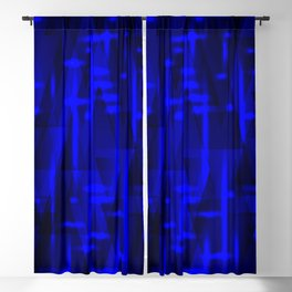 Bright dark blue highlights on marine triangles and metal stripes. Blackout Curtain