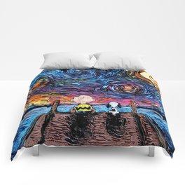 van gogh snoopy Comforters