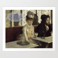 degas Art Prints featuring Talking Paintings - Degas by madraccoon