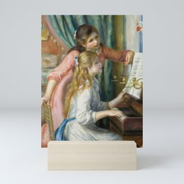 Two Young Girls at the Piano Mini Art Print