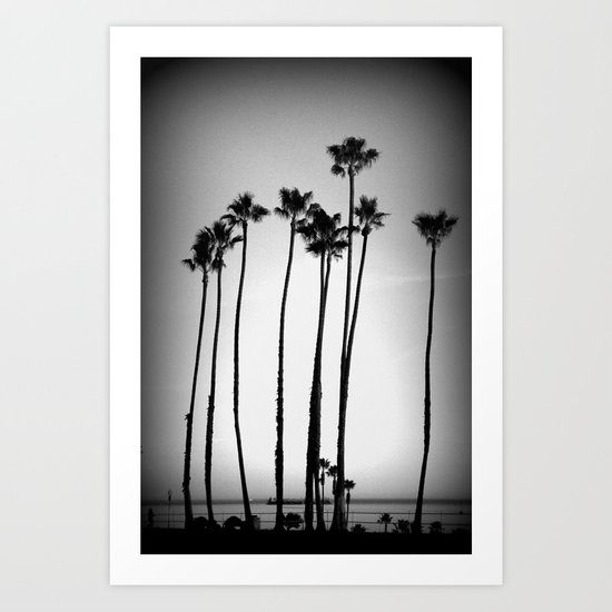 palm trees land Art Print