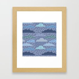pattern with clouds. Vector pattern Framed Art Print