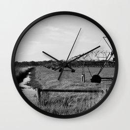 Irrigation of farmland in Gippsland, Australia Wall Clock