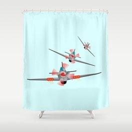 Dog Fight Shower Curtain