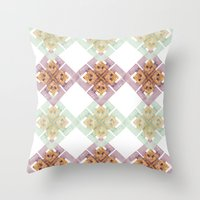 clover Throw Pillows featuring Clover by Wood + Ink