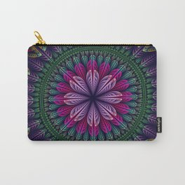 Summer mandala with fantasy flower and petals Carry-All Pouch