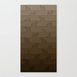Brown Dog Ombre Canvas Print