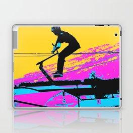 Free Falling - Stunt Scooter Rider Laptop & iPad Skin