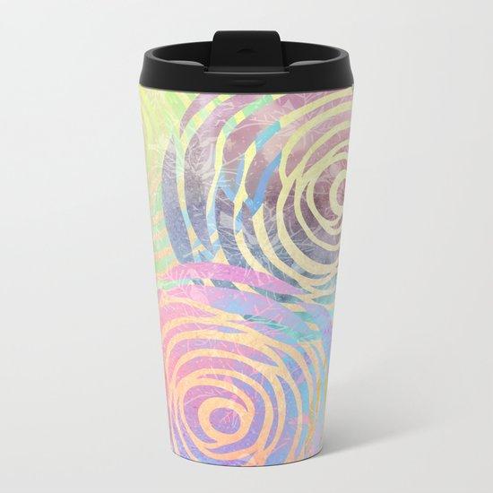 Summer Pattern Metal Travel Mug