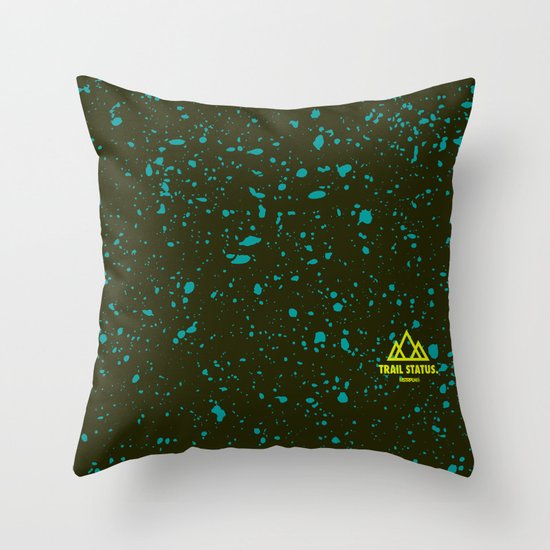 Trail Status / Green Throw Pillow