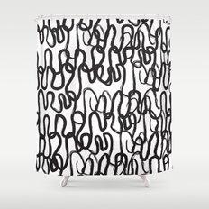 Ah, curves Shower Curtain