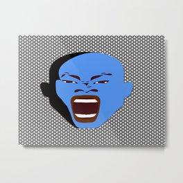 blue man face digital art atalanta creative zollione store Metal Print