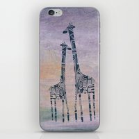 giraffes iPhone & iPod Skins featuring giraffes by Bunny Noir