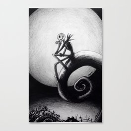 Melancholic moon Canvas Print