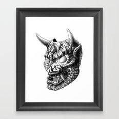 Japanese Demon Mask v.1 Framed Art Print
