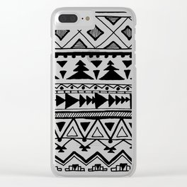 Tribal bohemian Mexican Aztec Style Pattern Doodle Clear iPhone Case