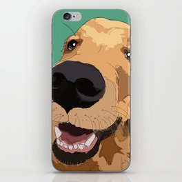 Golden Retriever-Don't leave me! iPhone Skin