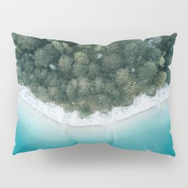 Green and Blue Symmetry - Landscape Photography Pillow Sham