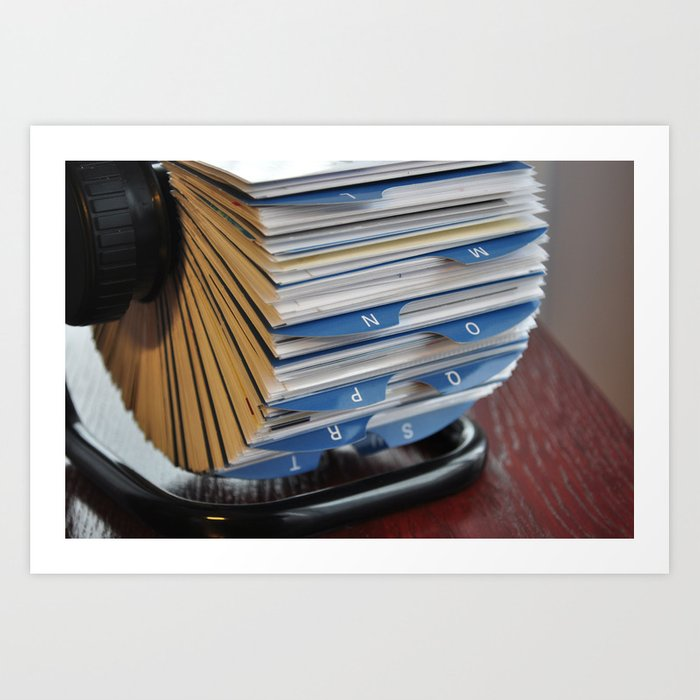 business card holder rolodex Art Print by tony4urban | Society6