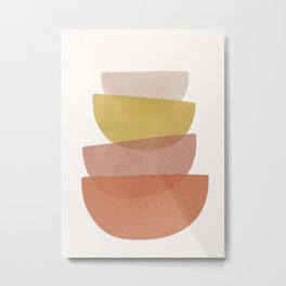 Abstract Minimal Shapes V Metal Print