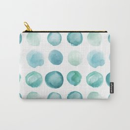 Blue Sea Glass Watercolor JUUL Carry-All Pouch
