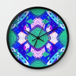 African Quilt Joy Mandala Wall Clock