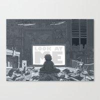 geek Canvas Prints featuring Geek by Siou Escallon