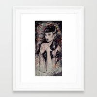 pinup Framed Art Prints featuring pinup by Andreea Red