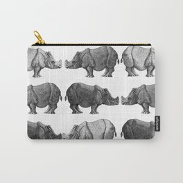 Alternating Rhinos Carry-All Pouch
